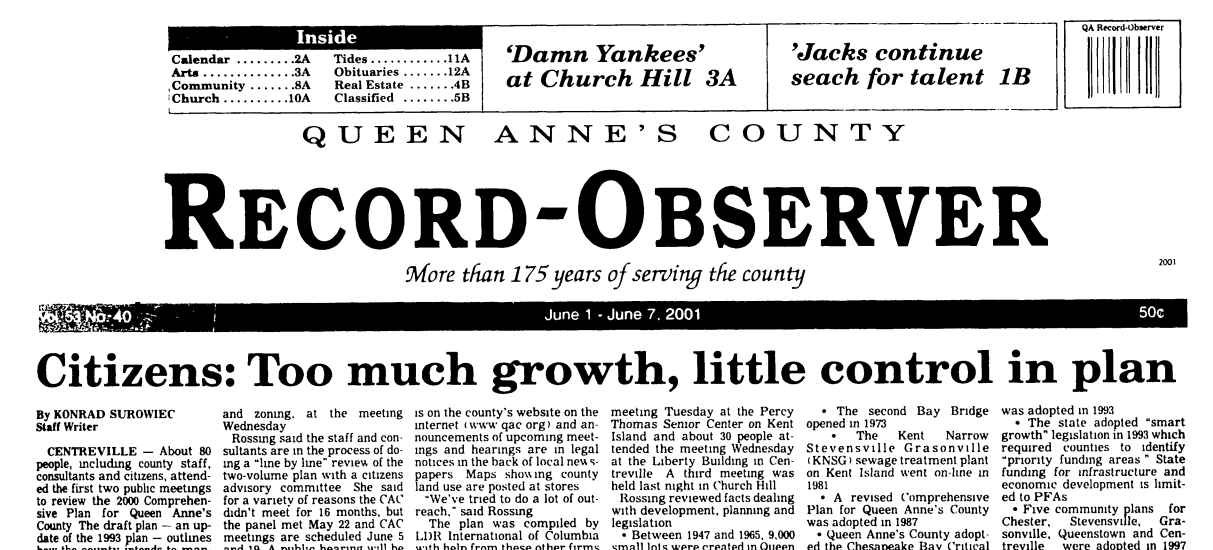 Historical Archives Of The Bay Times and Record Observer Online